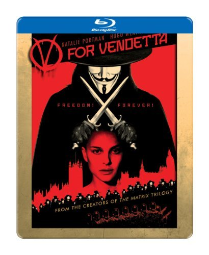 V For Vendetta Portman Hurt Graves Fry Blu Ray Ws Steelbook R