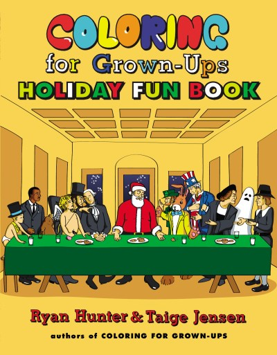 Ryan Hunter Coloring For Grown Ups Holiday Fun Book