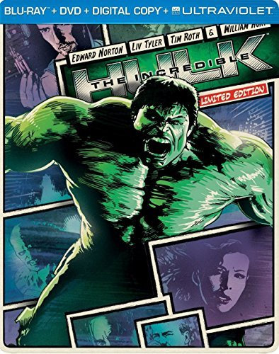 Incredible Hulk (2008) Norton Tyler Hurt Blu Ray Steelbook Pg13