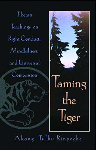 Akong Tulku Rinpoche Taming The Tiger Tibetan Teachings On Right Conduct Mindfulness Original