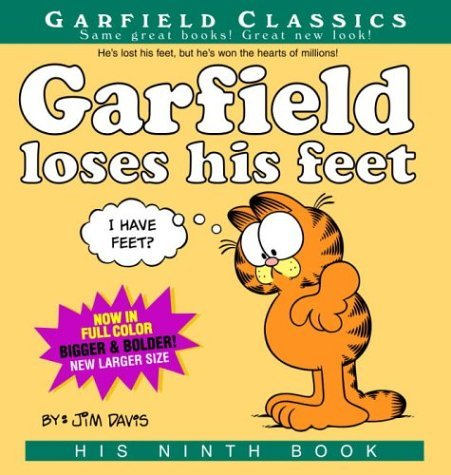 Jim Davis Garfield Loses His Feet His 9th Book