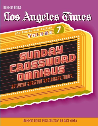 Barry Tunick Los Angeles Times Sunday Crossword Omnibus Volume