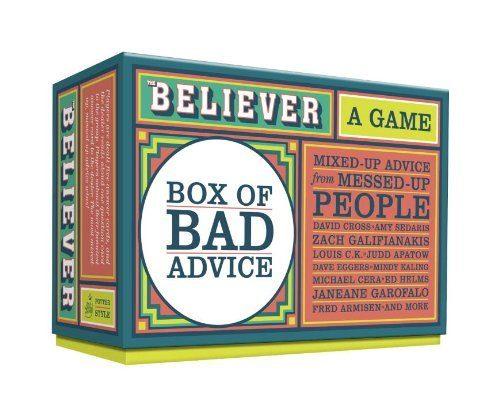 Card Game The Believer Box Of Bad Advice A Game
