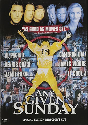 Any Given Sunday Pacino Diaz Quaid Woods Foxx L Clr Cc Dss 5.1 Ws Mult Sub R Spec. Ed.