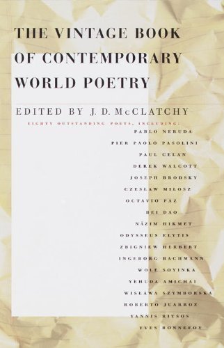 J. D. Mcclatchy The Vintage Book Of Contemporary World Poetry