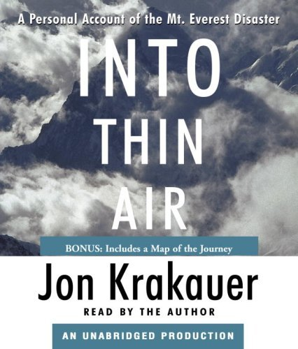 Jon Krakauer Into Thin Air A Personal Account Of The Mt. Everest Disaster