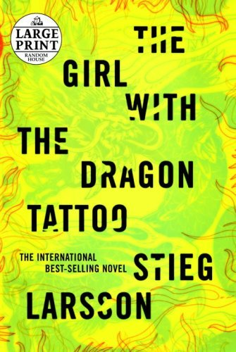Stieg Larsson The Girl With The Dragon Tattoo Large Print Large Print