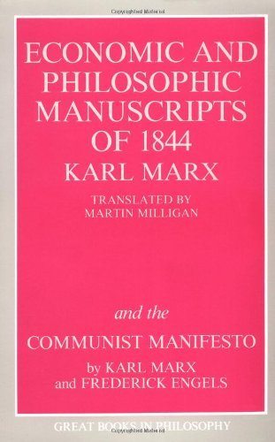 Karl Marx The Economic And Philosophic Manuscripts Of 1844 A