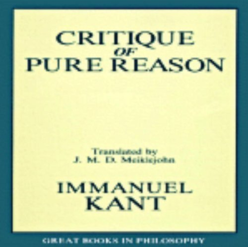 Immanual Kant The Critique Of Pure Reason Revised