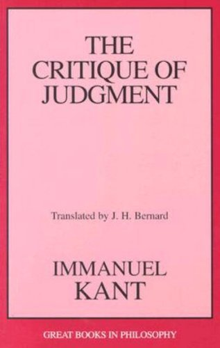 Immanuel Kant The Critique Of Judgment