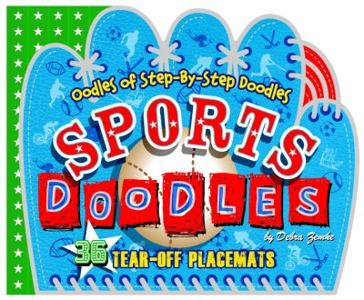 Deborah Zemke Sports Doodles Tear Off Placemats