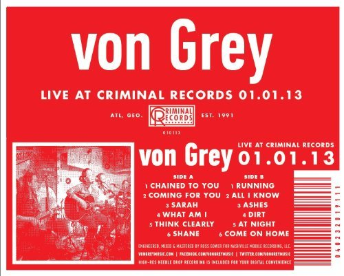 Von Grey Live At Criminal Records 01.01