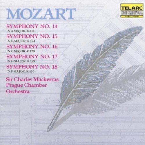 Wolfgang Amadeus Mozart Sym 14 18 Mackerras Prague Co