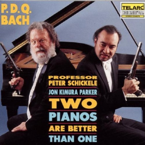 Peter Schickele P.D.Q. Bach Two Pianos Are Be CD R Schickele (pno) Parker (p Mester Ny Pick Up Ens