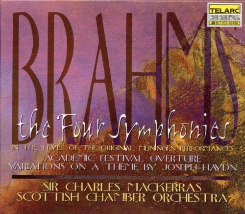 J. Brahms Four Symphonies In The Style Of The Meiningen Performances 3 CD Mackerras Scottish Co