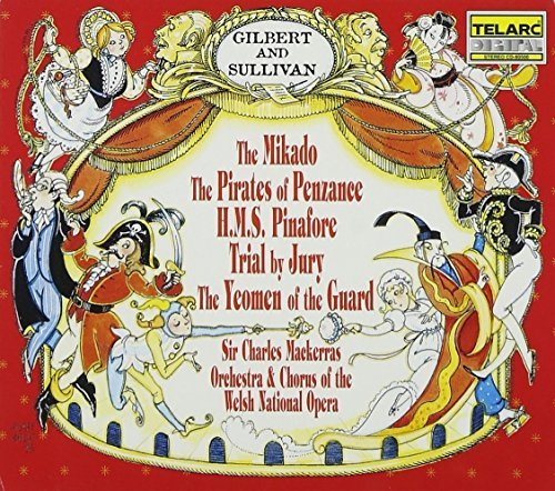 Gilbert & Sullivan Mikado Pirates Of Penzance Hms 5 CD Mackerras Welsh Natl Opera