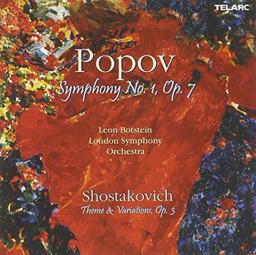 Popov Shostakovich Sym 1 Theme & Vars Op 3 CD R Botstein London So
