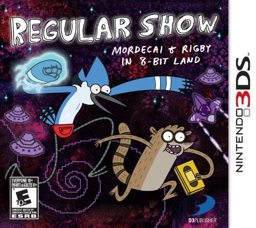 Nintendo 3ds Regular Show Mordecai & Rigby In 8 Bit Land