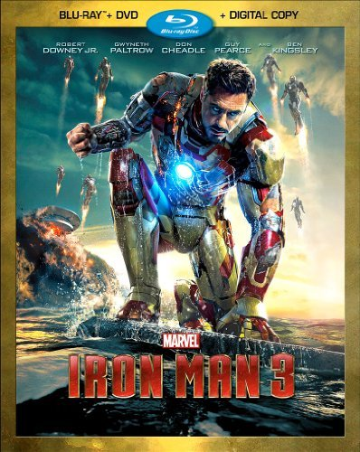 Iron Man 3 Downey Paltrow Cheadle Pearce Blu Ray Ws Pg13 DVD Dc