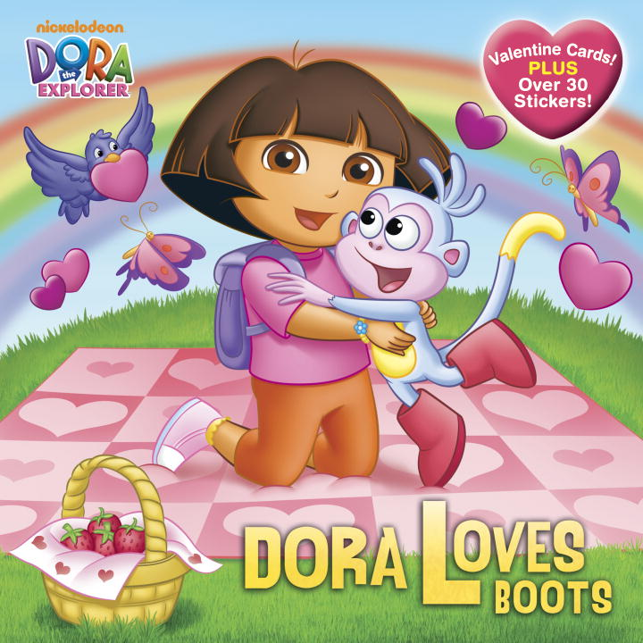 Alison Inches Dora Loves Boots [with Valentine Cards]