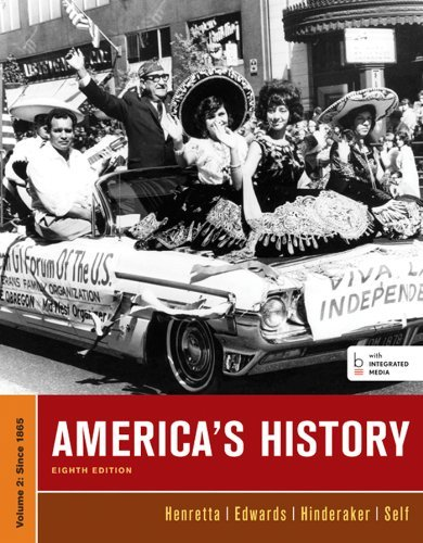 James A. Henretta America's History Volume Ii 0008 Edition;
