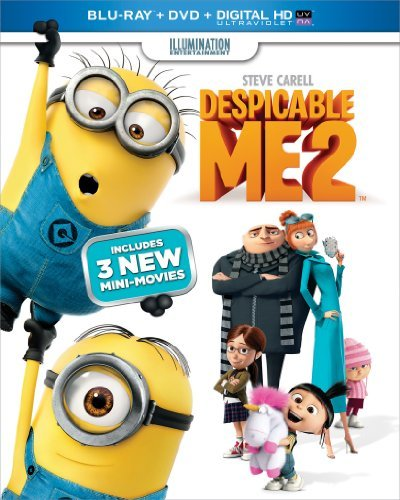 Despicable Me 2 Carell Wiig Blu Ray DVD Dc Uv Pg Ws