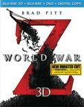 World War Z 3d Pitt Fox Morse Enos Dale Pg13 DVD Dc