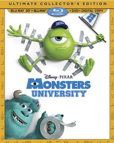 Monsters University 3d Monsters University 3d Blu Ray DVD Dc G Ws