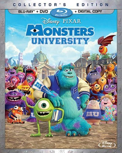 Monsters University Monsters University Blu Ray DVD Dc G Ws
