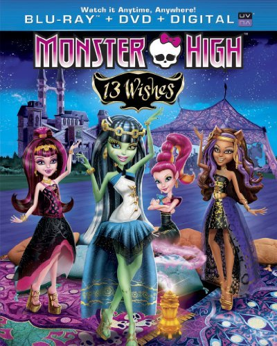 Monster High 13 Wishes Blu Ray DVD Dc Uv Nr Ws