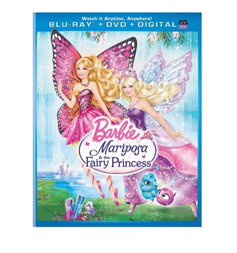 Barbie Mariposa & The Fairy Princess Blu Ray DVD Dc Nr