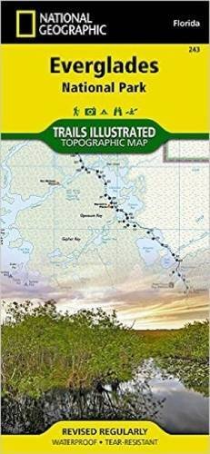 National Geographic Maps Everglades National Park Florida Usa Outdoor Rec