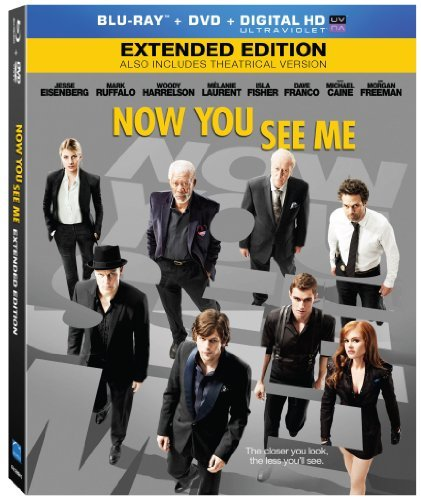 Now You See Me Eisenberg Ruffalo Harrelson Blu Ray DVD Dc Pg13