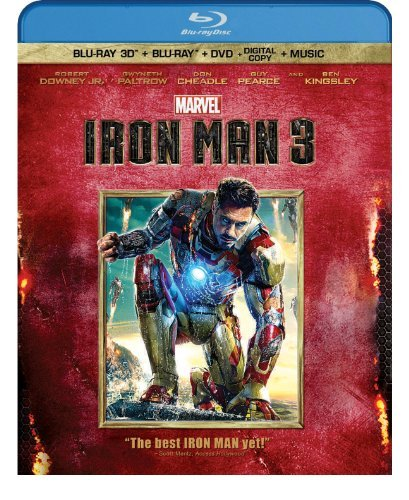 Iron Man 3 3d Downey Paltrow Cheadle Pearce Blu Ray 3d Ws Pg13 Br DVD Dc