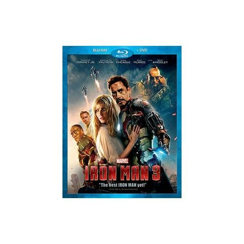 Iron Man 3 Downey Paltrow Cheadle Pearce Blu Ray DVD Pg13 Ws
