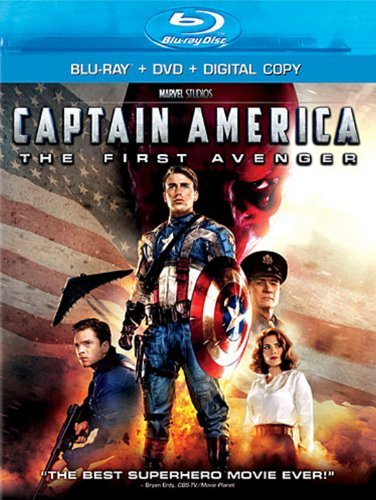 Captain America First Avenger Evans Weaving Armitage Blu Ray DVD Pg13 Ws