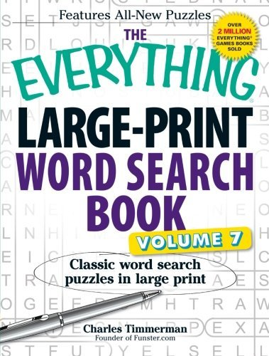 Charles Timmerman The Everything Large Print Word Search Book Volum Classic Word Search Puzzles In Large Print