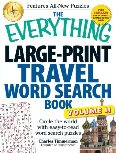Charles Timmerman The Everything Large Print Travel Word Search Book Circle The World With Easy To Read Word Search Pu