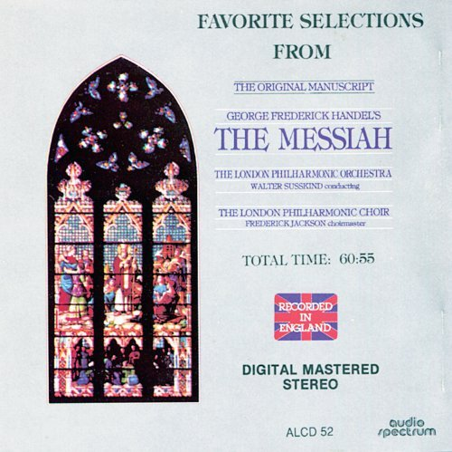 G.F. Handel Messiah Hlts Cantelo Stalman Watts Brown + Susskind London Phil Orch & Ch