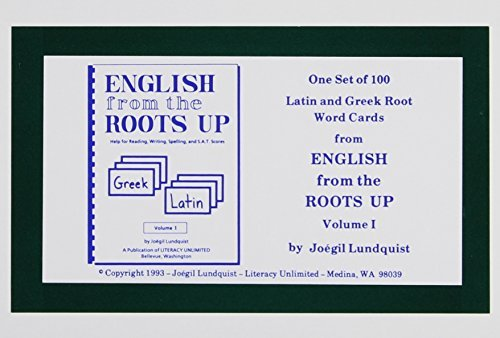 Joegil K. Lundquist English From The Roots Up Vol 1 Flash Cards