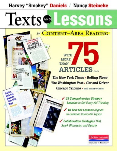 Harvey Smokey Daniels Texts And Lessons For Content Area Reading With More Than 75 Articles From The New York Time