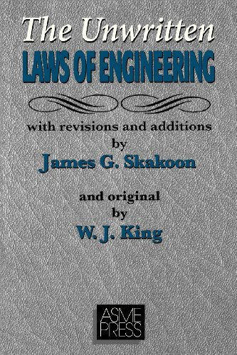 James G. Skakoon The Unwritten Laws Of Engineering