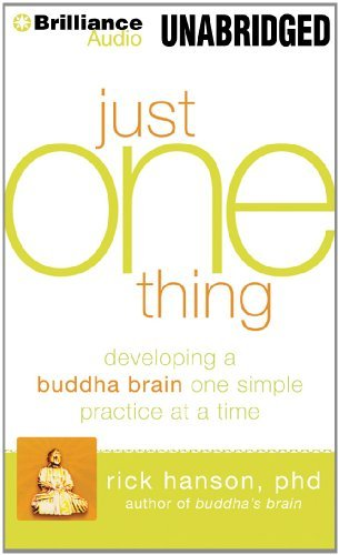 Rick Hanson Just One Thing Developing A Buddha Brain One Simple Practice At