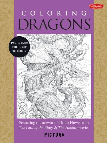 John Howe Coloring Dragons Featuring The Artwork Of John Howe From The Lord