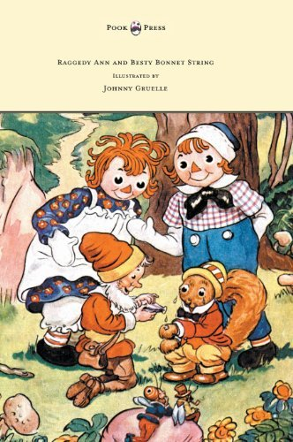 Johnny Gruelle Raggedy Ann And Betsy Bonnet String Illustrated