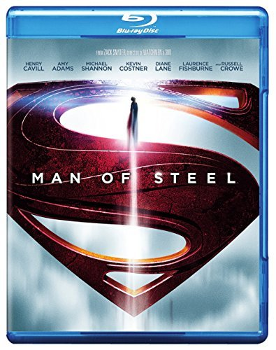Man Of Steel Cavill Adams Shannon Costner Blu Ray DVD Uv Pg13 Ws