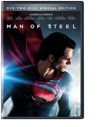 Man Of Steel Cavill Adams Shannon Costner DVD Uv Pg13