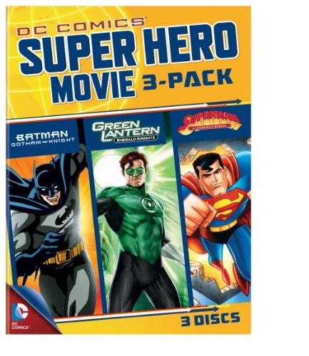 Batman Green Lantern Superman Dc Comics Super Hero 3 Pack Pg13 3 DVD