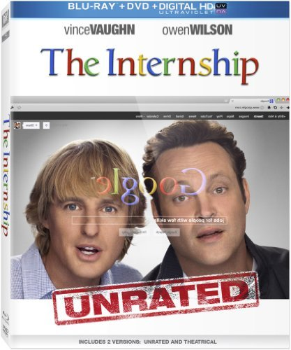 Internship Vaughn Wilson Blu Ray Ws Pg13 DVD Uv