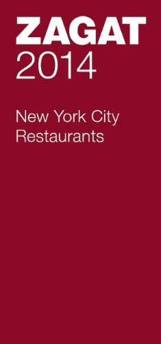 Curt Gathje Zagat New York City Restaurants [with Map] 2014